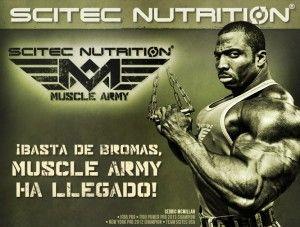 Muscle ARMY el Nuevo suplementos de  Scitec Nutrition