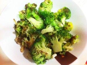 brocoli con pollo para cenar