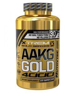 arginina AAKG de Gold Xtrem Series de Nutrytec 120 Caps