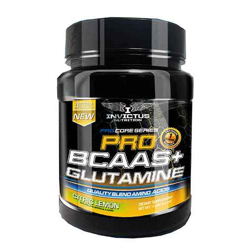 bcaas con glutamina de invictus nutrition