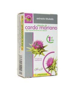 30 capsulas de cardo mariano para el hígado