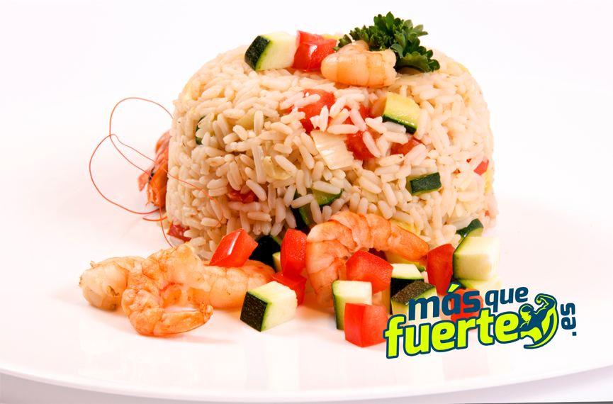 comer arroz para ganar masa muscular