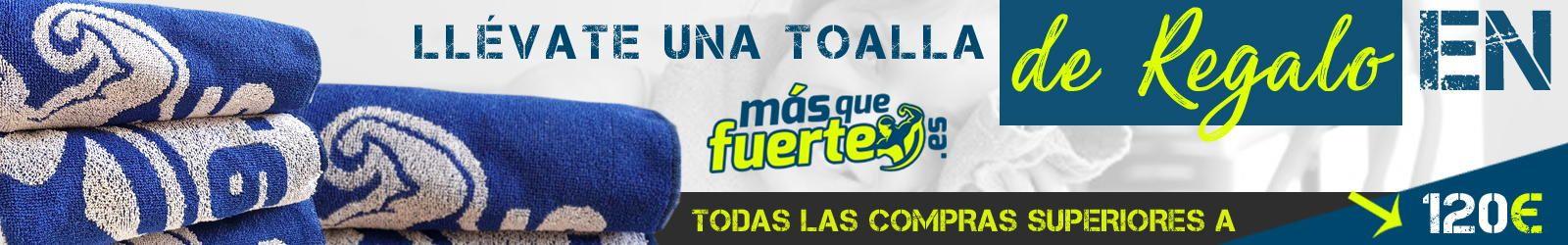 Toalla de REGALO - En tus pedidos superiores a 120€ una toalla valorada en 11,90€ GRATIS!